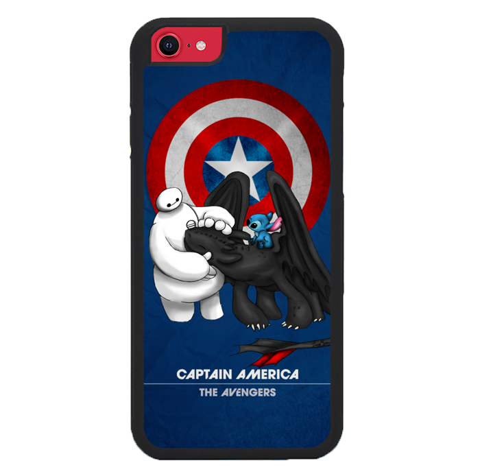 Stitch Baymax Toothless CAPTAIN AMERICA Y2888 iPhone SE 2020 Case