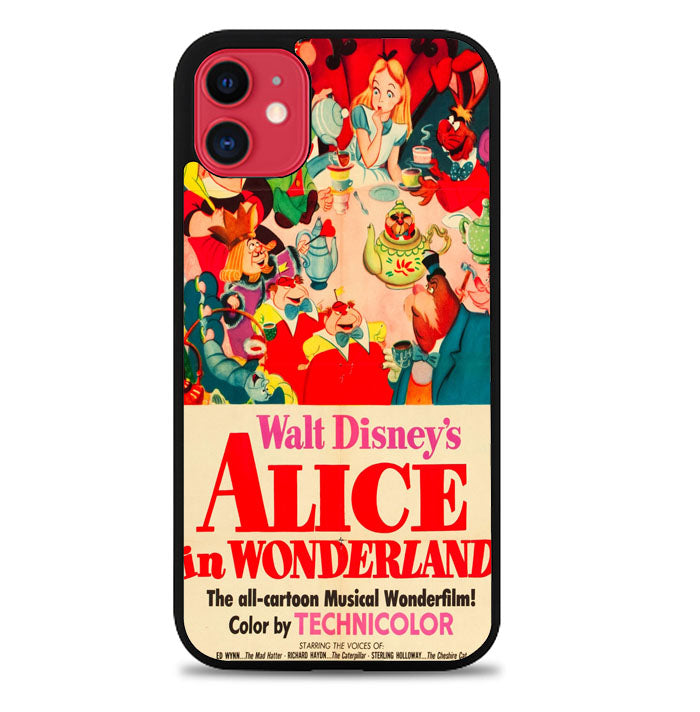 Vintage, Alice In Wonderland Poster iPhone 11 Pro Max Case