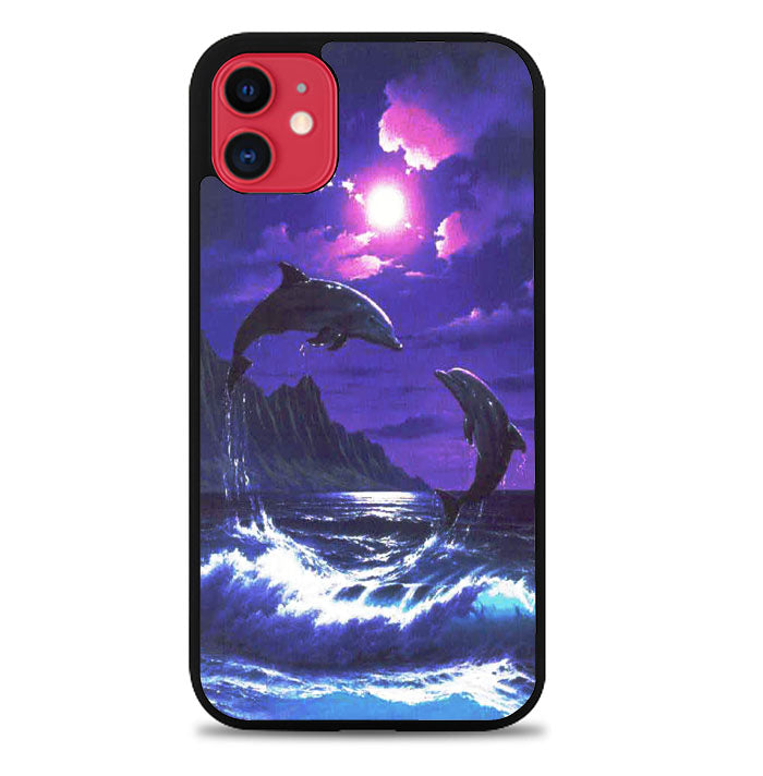 Purple Night Dolphins Beautiful A1441 iPhone 11 Pro Max Case