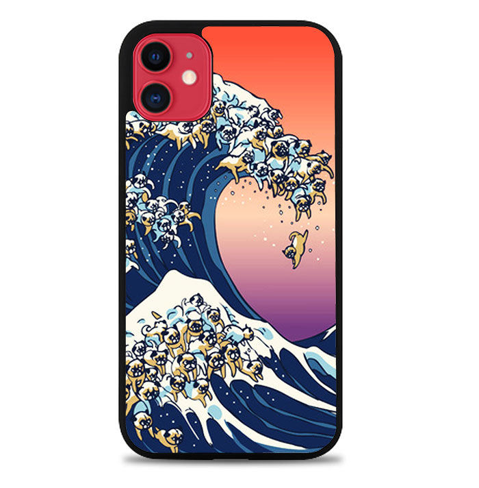 The Great Wave of Pug A1671 iPhone 11 Pro Max Case