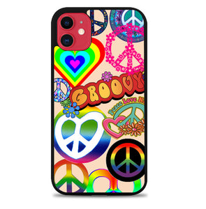 60S PEACE SIGN D0034 iPhone 11 Case