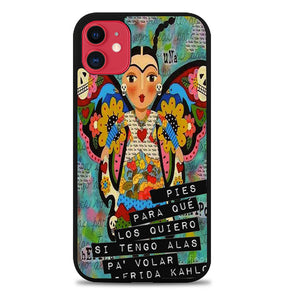 Pies Para Frida Kahlo B0056 iPhone 6s Case - Plastic / Black iPhone 11 Pro Max Case