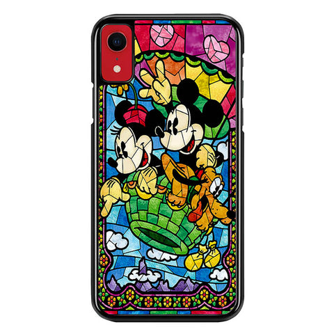 Mickey Minnie Mouse Pluto Disney Stained Glass L2191 iPhone XR Case