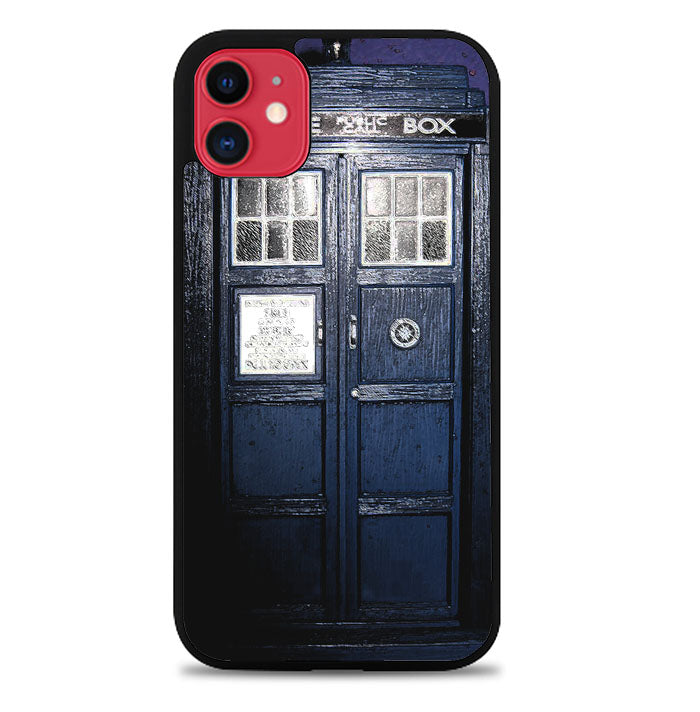 Dark Blue Tardis doctor who toys V0400 iPhone 11 Case
