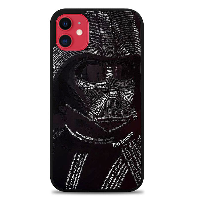 Star Wars Dh Vader Typograph V0514 iPhone 11 Case