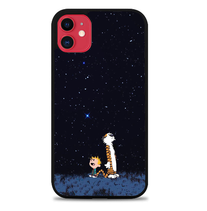 Calvin Hobbes Space V0302 iPhone 11 Case