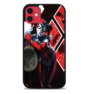 HARLEY QUINN WITH MALLET V0122 iPhone 11 Case