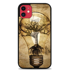 Abstract Tree In Light Bulb V1363 iPhone 11 Case