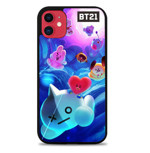 BTS BT21 Galaxy P1107 iPhone 11 Case