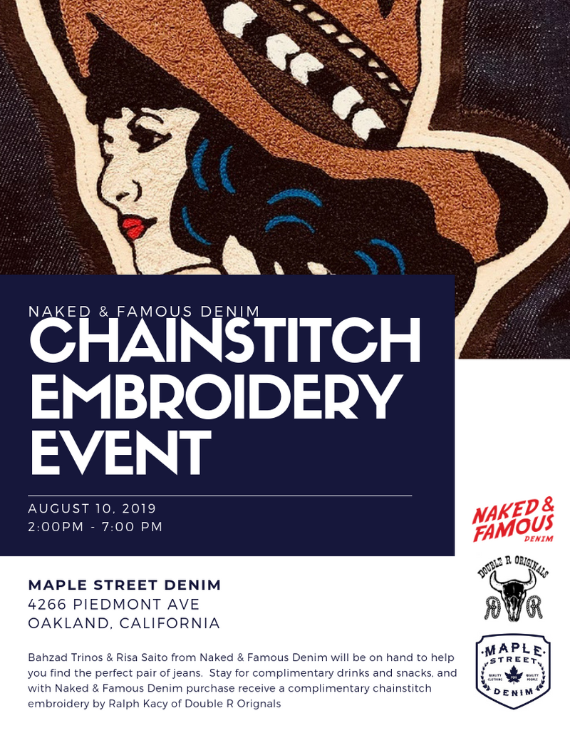 Naked & Famous Chainstitch Embroidery Event!