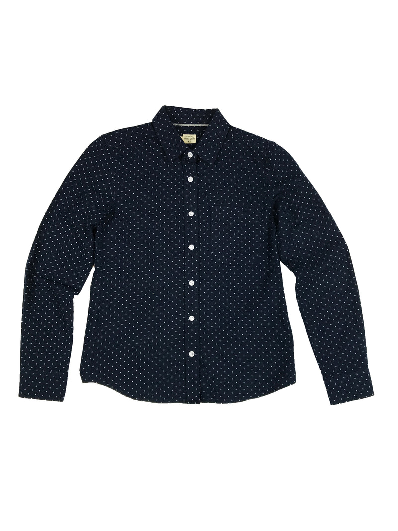 Ash Flannel - Navy Dot