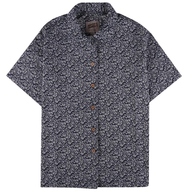 Camp Collar Shirt - Indigo Floral