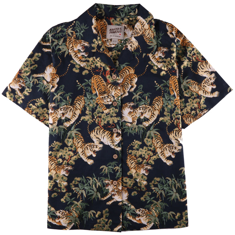Camp Collar Shirt - Japanese Tigers