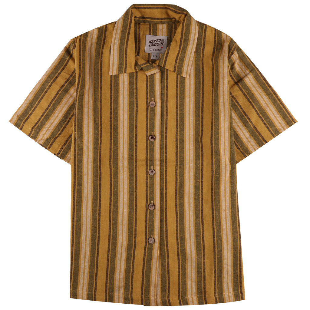 Camp Collar Shirt - Sahara Stripe