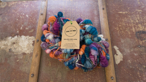 """That Orange & Teal Look"" - Merino 'Beehives' Yarn"