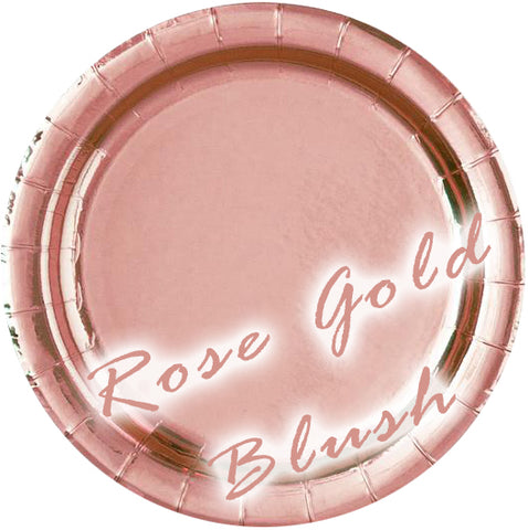 Rose Gold Blush Foil Party Supplies