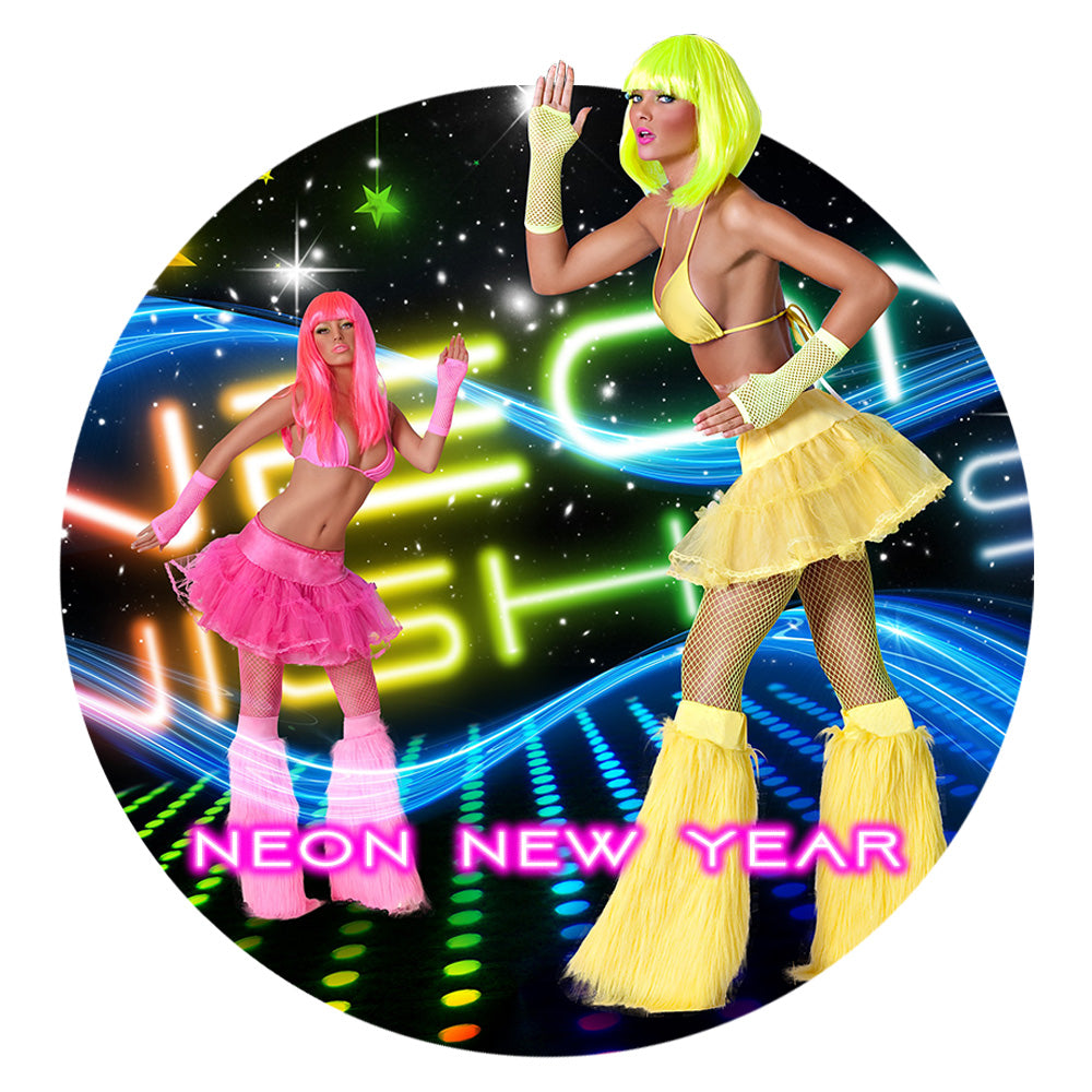Neon New Year Party Supplies