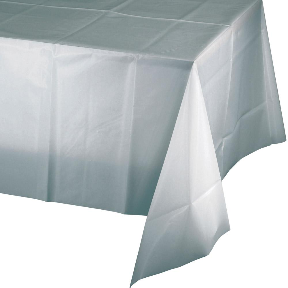 Silver Paper Tablecover 1.37m x 2.74m - Party Savers
