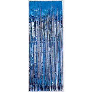 Bright Royal Blue Metallic Curtain 91.4cm x 2.43m Each