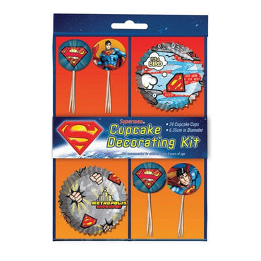 Superman Cupcake Decorating Kit 48pk