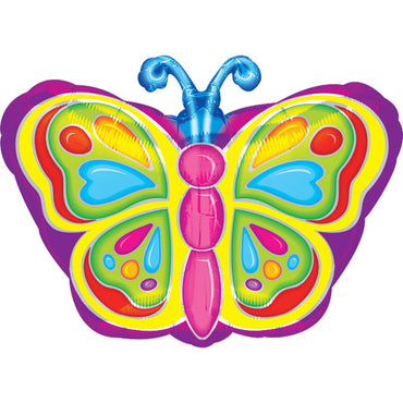 Bright Butterfly balloon 46cm x 46cm
