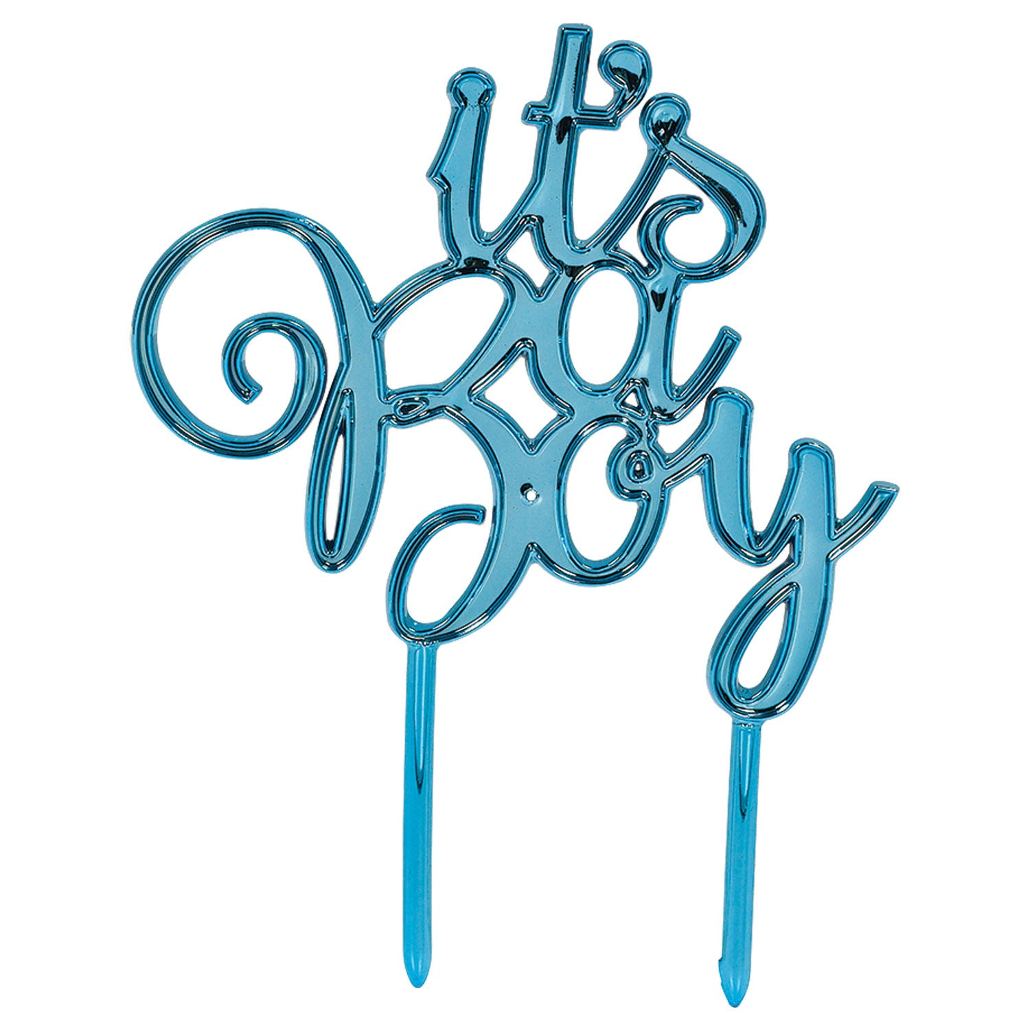 Boy Plastic Cake Topper - Party Savers
