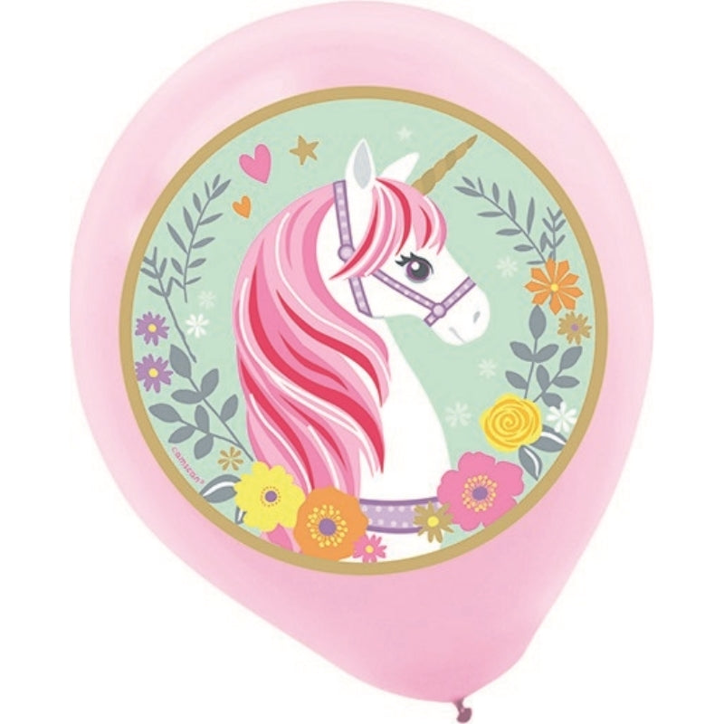 Magical Unicorn Latex Balloons 30.4cm 5pk - Party Savers