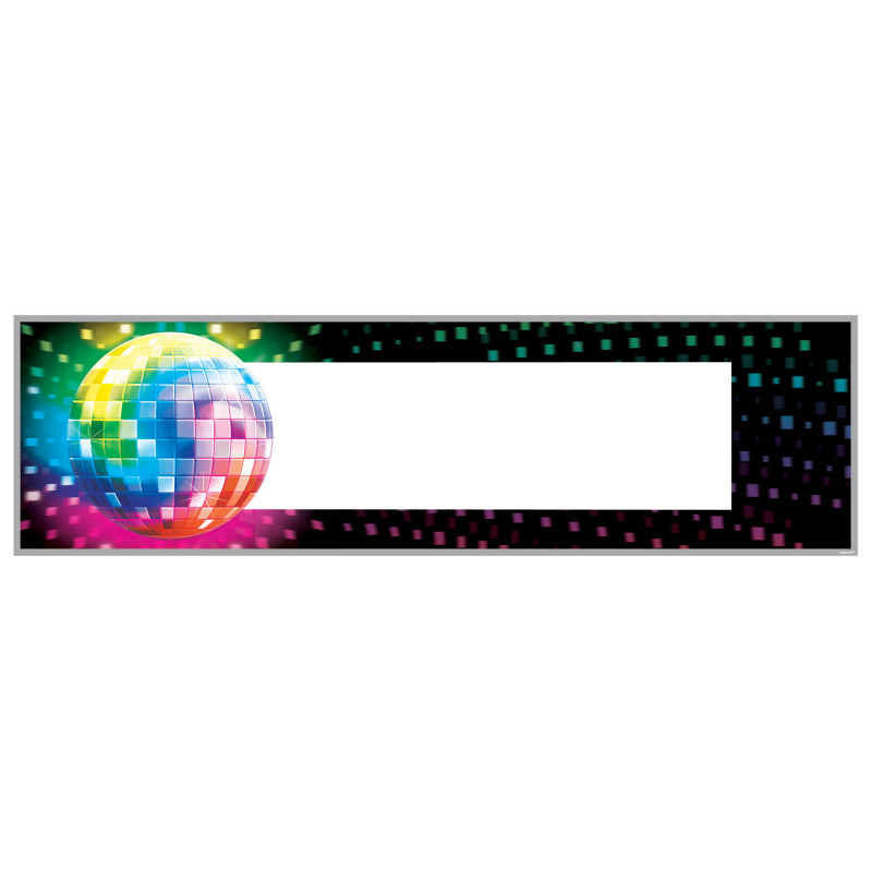 Disco Fever Personalize It Giant Banner Each - Party Savers