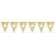 Gold Scroll Personalised Penant Banner 24pk