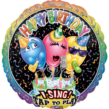 Singing Balloon Birthday Jumbo Sing-A-Tune Self Sealing Foil Balloon - Plays Happy Birthday to You 71cm