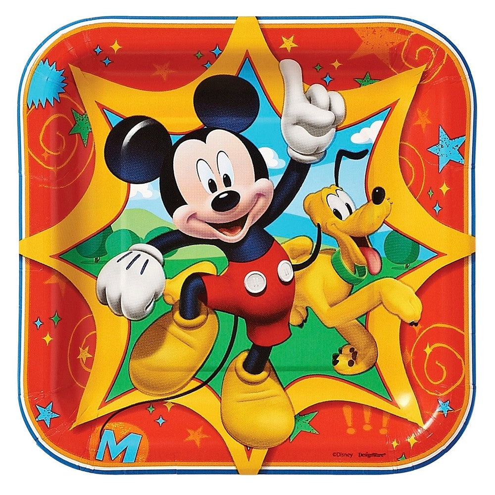 Mickey and Friends Square Plate 17cm 8pk - Party Savers
