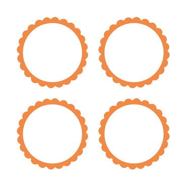 Orange Scalloped Labels 5pk
