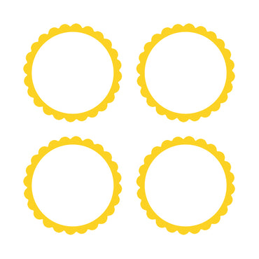 Sunshine Yellow Scalloped Labels 5pk