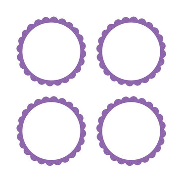 New Purple Scalloped Labels 5pk