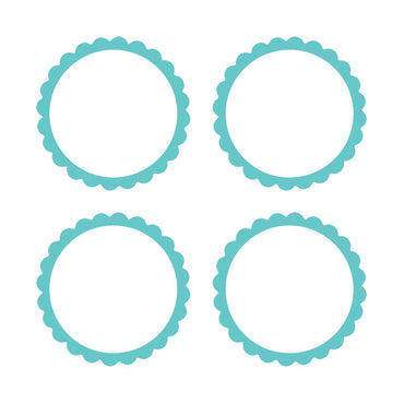 Robin Egg Blue Scalloped Labels 5pk
