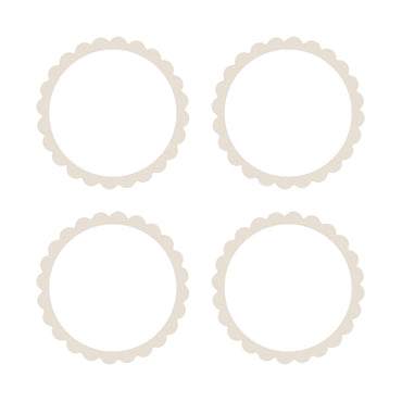 White Scalloped Labels 5pk
