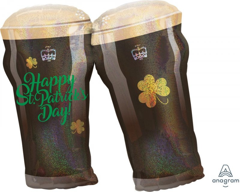 St Patrick's Day Beer Mugs Glasses Foil Balloon - Party Savers