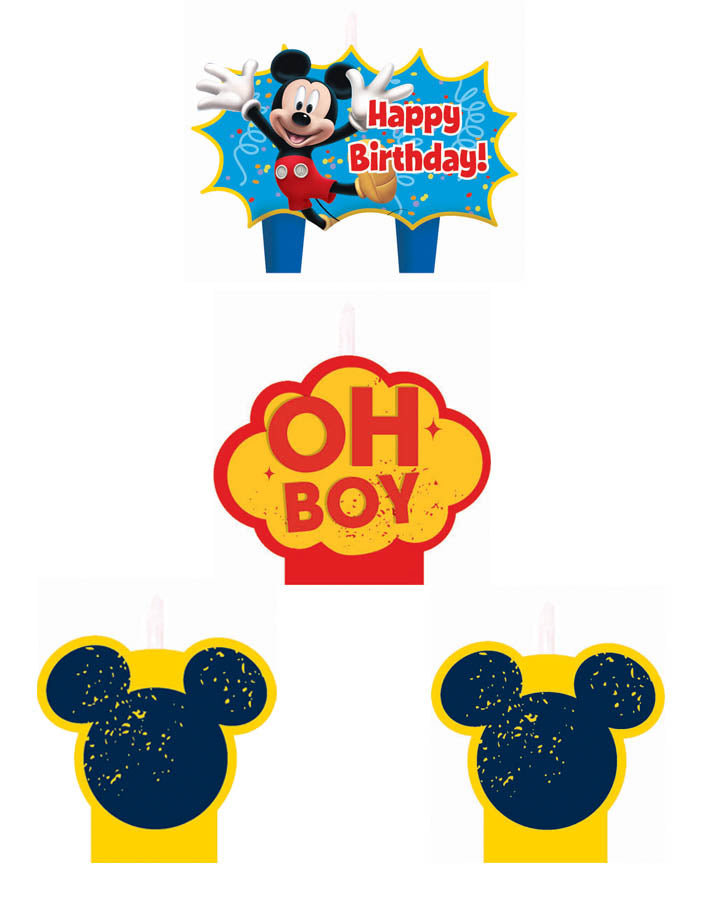 Mickey and Friends Birthday Candle Set - Party Savers