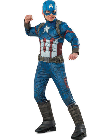 Boys Costume - Captain America Premium