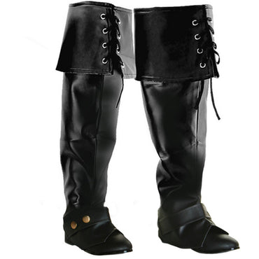 Black Boot Covers Lace Up - Party Savers