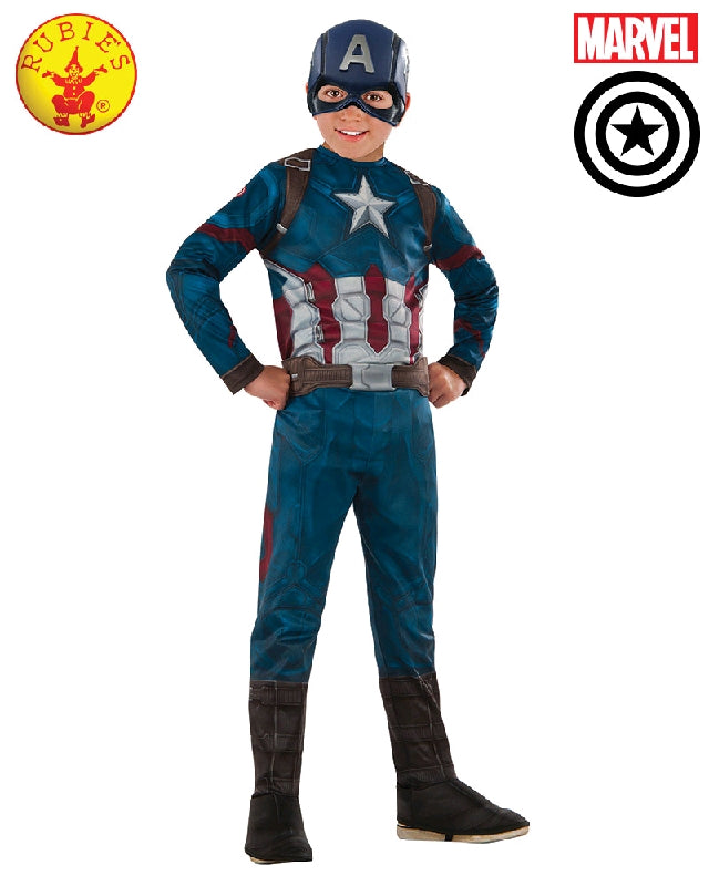 Boys Costume - Captain America Classic Infinity War
