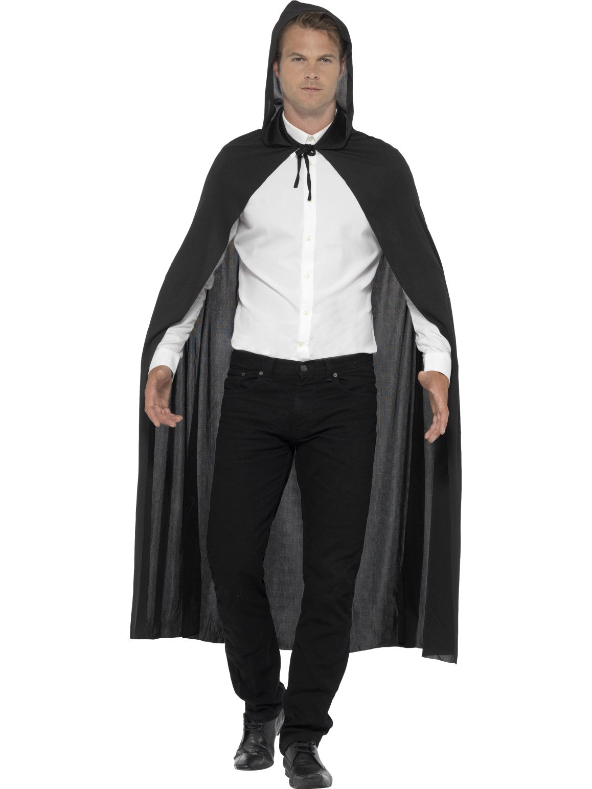 black hooded vampire cape | party savers | halloween costumes & dress up