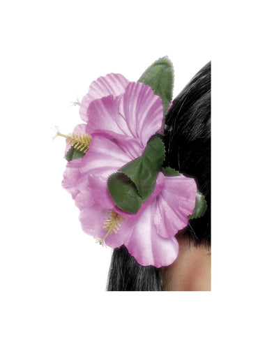 Purple Hawaiian Flower Hair Clip