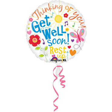 Get Well Messages Foil Balloon 45cm