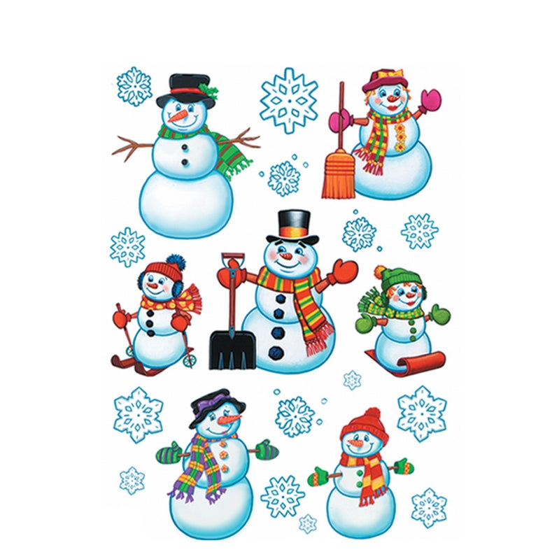 Snowman Clings 12in x 17in 16sh - Party Savers