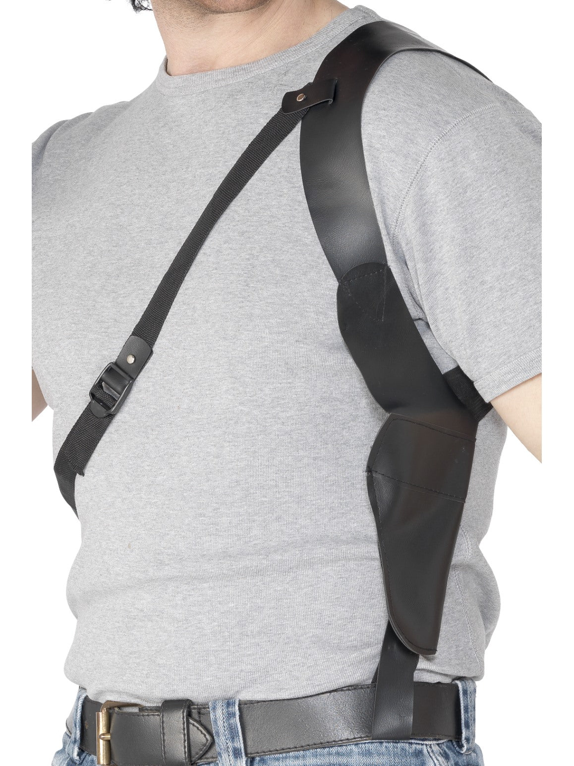 Black Leather Look Shoulder Holster