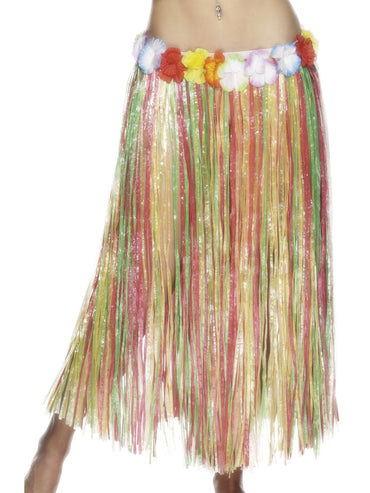 Multi Coloured Hawaiian Hula Skirt Long