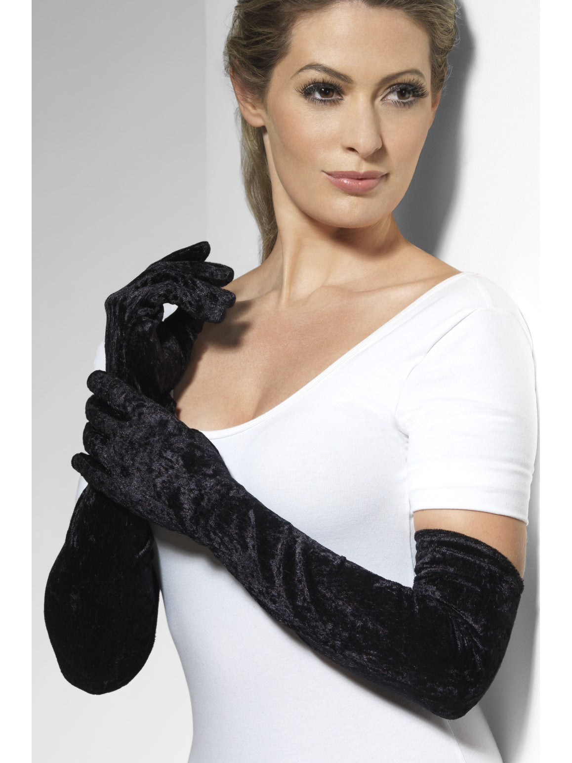 Black Velveteen Gloves