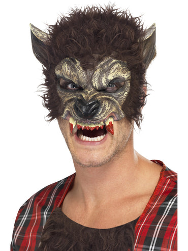 Brown Werewolf Half Face Mask
