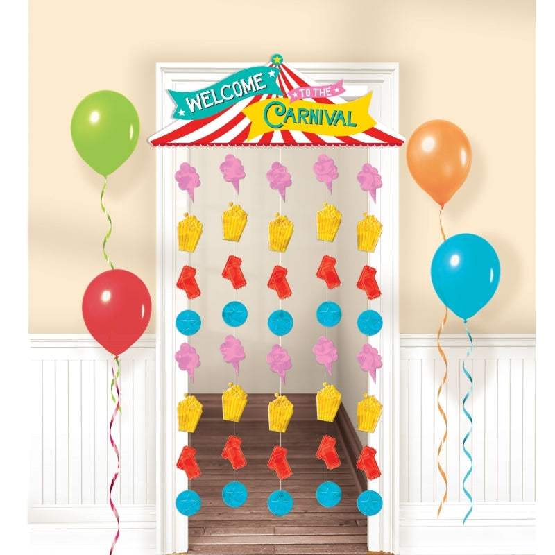 Carnival Games Door Curtain Welcome To The Carnival 1.95m x 99cm